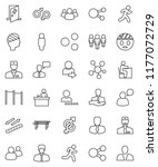 thin line vector icon set  ... | Shutterstock .eps vector #1177072729