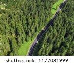 arial veiw of empty road in...   Shutterstock . vector #1177081999