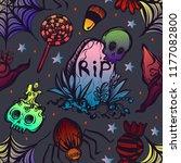 vector illustration  halloween...   Shutterstock .eps vector #1177082800