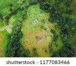arial veiw village in  alpine...   Shutterstock . vector #1177083466
