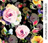 seamless pattern with original... | Shutterstock . vector #1177083820