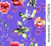 seamless wallpaper with summer... | Shutterstock . vector #1177083826