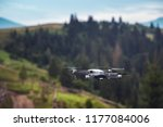 drone quadcopter with digital...   Shutterstock . vector #1177084006