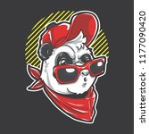 panda wearing urban outfit | Shutterstock .eps vector #1177090420