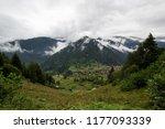 beautiful green landscape... | Shutterstock . vector #1177093339
