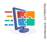 vector icon illustration with... | Shutterstock .eps vector #1177095796