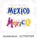 flat set of viva mexico... | Shutterstock . vector #1177097509