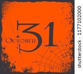 halloween 31 october vintage...   Shutterstock .eps vector #1177102000