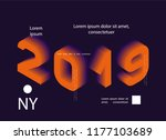 2019 colored . banner with 2019 ... | Shutterstock .eps vector #1177103689