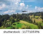 drone quadcopter with digital...   Shutterstock . vector #1177105396