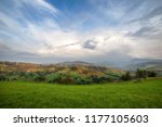 panoramic mountain view with...   Shutterstock . vector #1177105603