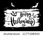 happy halloween template for... | Shutterstock .eps vector #1177108543