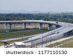 aerial wiew of modern highway...   Shutterstock . vector #1177110130