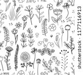 floral seamless pattern.... | Shutterstock .eps vector #1177116913