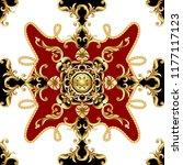 seamless pattern  with golden... | Shutterstock .eps vector #1177117123