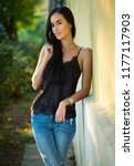 portrait of a beautiful... | Shutterstock . vector #1177117903