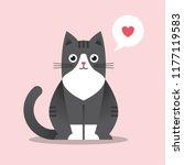 cute sitting cat illustration... | Shutterstock .eps vector #1177119583