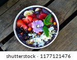 acai bowl with fruits | Shutterstock . vector #1177121476