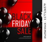 black friday sale banner with... | Shutterstock .eps vector #1177126579