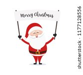 santa claus hold banner merry... | Shutterstock .eps vector #1177128556