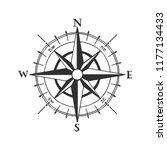 wind rose vector illustration.... | Shutterstock .eps vector #1177134433