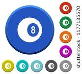 black eight billiard ball round ...   Shutterstock .eps vector #1177135570