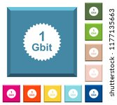 1 gbit guarantee sticker white... | Shutterstock .eps vector #1177135663