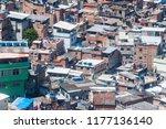 aerial view of favela rocinha...   Shutterstock . vector #1177136140