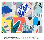 creative art poster with...   Shutterstock .eps vector #1177140133