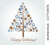 stylized design christmas tree... | Shutterstock .eps vector #117714076