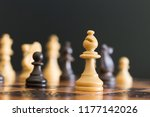 chess photographed on a...   Shutterstock . vector #1177142026