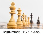 chess photographed on a...   Shutterstock . vector #1177142056