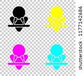 male speaker icon. colored set...