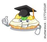 graduation cartoon lemon cake... | Shutterstock .eps vector #1177143169