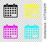 simple calendar icon. colored...