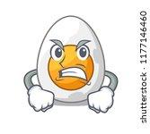 angry peeled boiled egg on... | Shutterstock .eps vector #1177146460