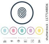 fingerprint flat color icons in ... | Shutterstock .eps vector #1177148836