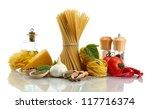 pasta spaghetti  vegetables ... | Shutterstock . vector #117716374