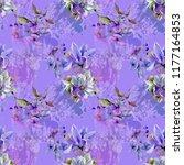 purple scale  magnolia and...   Shutterstock . vector #1177164853