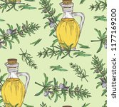 seamless pattern with rosemary... | Shutterstock .eps vector #1177169200