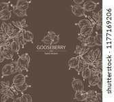 background with gooseberry ...   Shutterstock .eps vector #1177169206