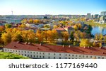 beautiful autumn panorama of... | Shutterstock . vector #1177169440