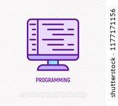 programming thin line icon.... | Shutterstock .eps vector #1177171156