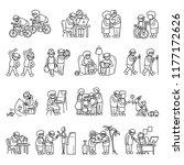 older persons senior retirement ... | Shutterstock .eps vector #1177172626