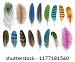 Feather Icon Set. Realistic Se...
