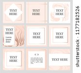 templates frame square fluide... | Shutterstock .eps vector #1177182526