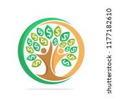 illustration tree icon with the ... | Shutterstock .eps vector #1177182610