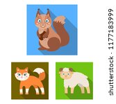 toy animals flat icons in set... | Shutterstock .eps vector #1177183999