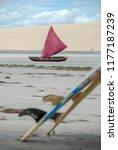 jericoacoara is a virgin beach... | Shutterstock . vector #1177187239