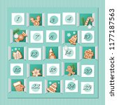advent calendar  decorated wirh ... | Shutterstock .eps vector #1177187563
